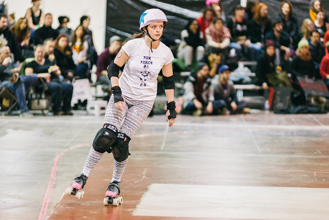 Roller derby provides a sense of community in addition to physical activity. EVAN LUKE/THE VARSITY
