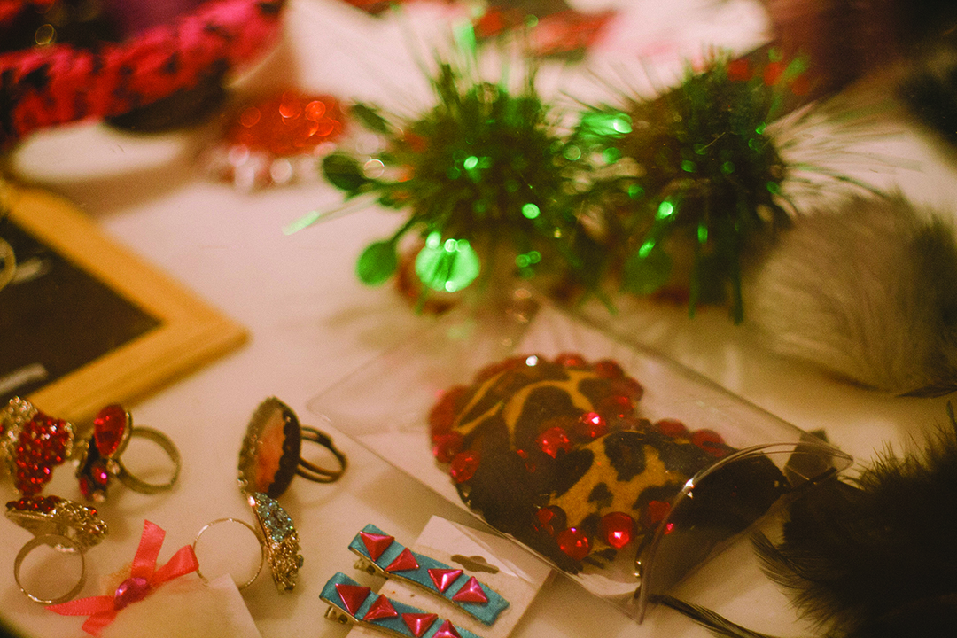 Accessories are made and sold at the Toronto School of Burlesque in Kensington Market.