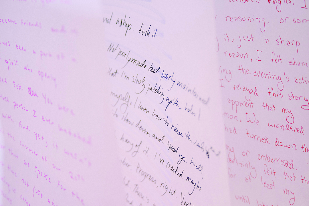 All letters written by collective members are hand written. JENNIFER SU/THE VARSITY