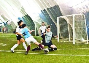 An intramural soccer match. PHOTO COURTESY OF ROB LEONE/VARSITY BLUES