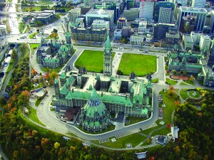 Aerial view of Parliament Hill, Ottawa. TSAIPROJECT/FLICKR CC.