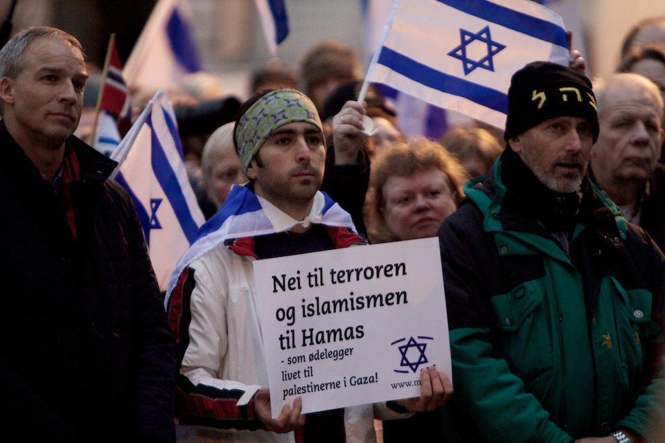 Pro-Israeli demonstration. CC Flickr by John Christian Fjellestad.